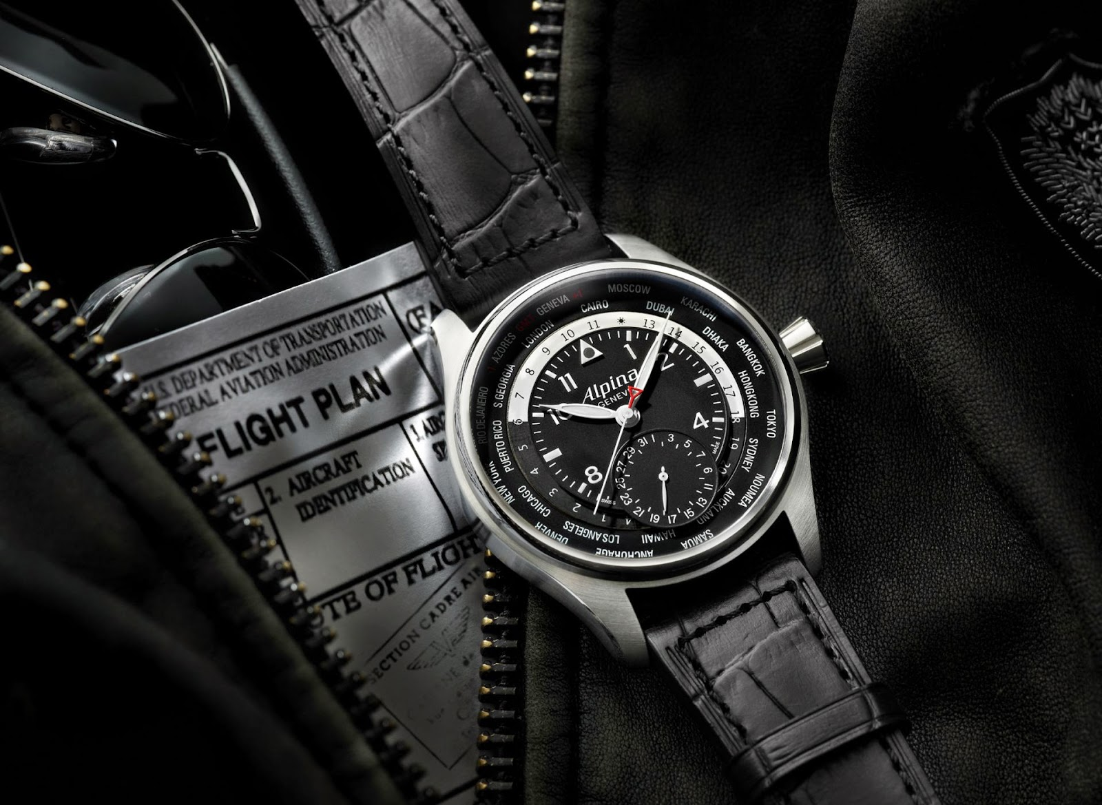 Alpina Worldtimer Manufacture Limited edition watch in collaboration with Cessna Aircraft and PrivatAir