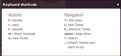 New Twitter Keyboard Shortcuts image