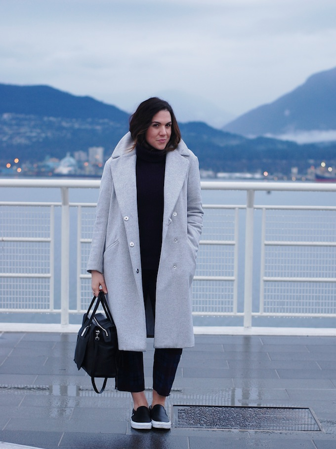 Vancouver blogger grey wool coat