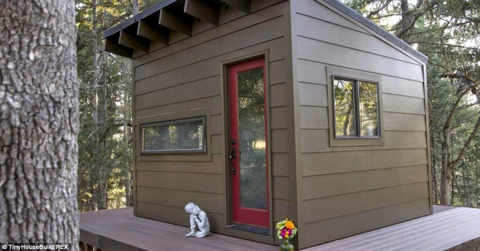Their daughter Terra, 14, has her own cabin next door. They also have a 17-year-old son, Paiute, who attends college. - This Couple Got Out Of The Rat Race. And Built This Tiny Home For $33K.