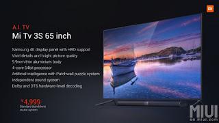Mi TV 3S - Comprar TV 4K desconto