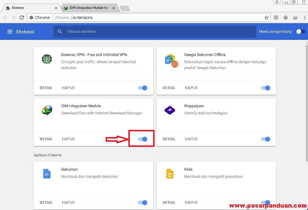 cara download video di web dengan idm