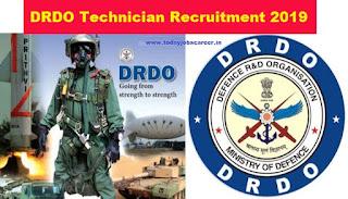 DRDO-351 Technician Recruitment 2019 Bangalore Apply Online