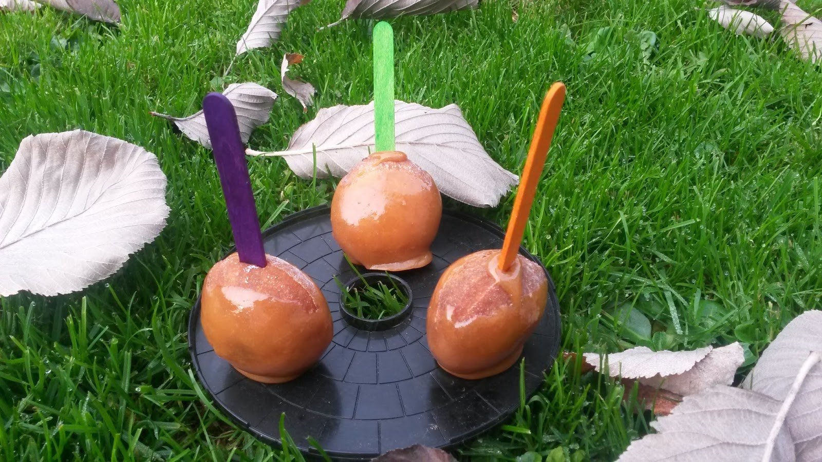 or as i like to call it halloween advent and heres a sticky treat toffee apple doughnuts