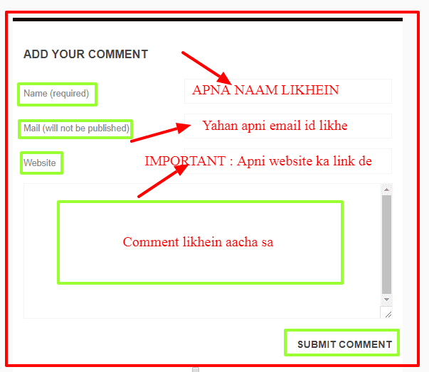 How to add website link through commenting