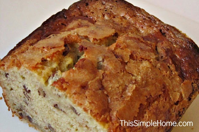 A delicious and unique banana bread. Traditional, but different enough to make you remember this bread.
