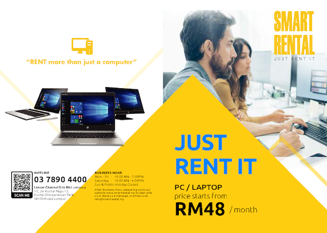 Just Rent It, from RM48/month