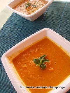 Σούπα καρότου με κάστανο και άρωμα φασκόμηλου