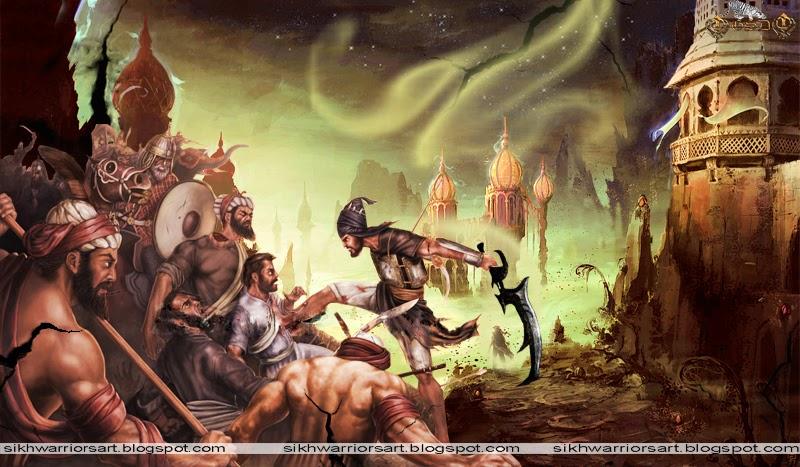Wallpaper Guru Gobind Singh Ji 3d Sikh Warriors 40 Vs 10 Lakh Spirit