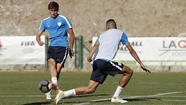 El Málaga entrenó hoy la finalización de las jugadas
