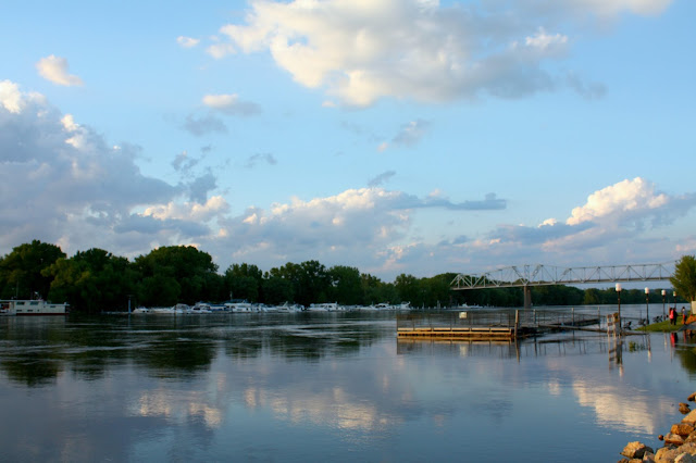 Mississippi River and bridge in Red Wing, Minnesota