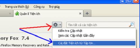 Cách thêm IDM vào FireFox  a