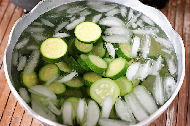 Zucchini in an Ice Bath Image