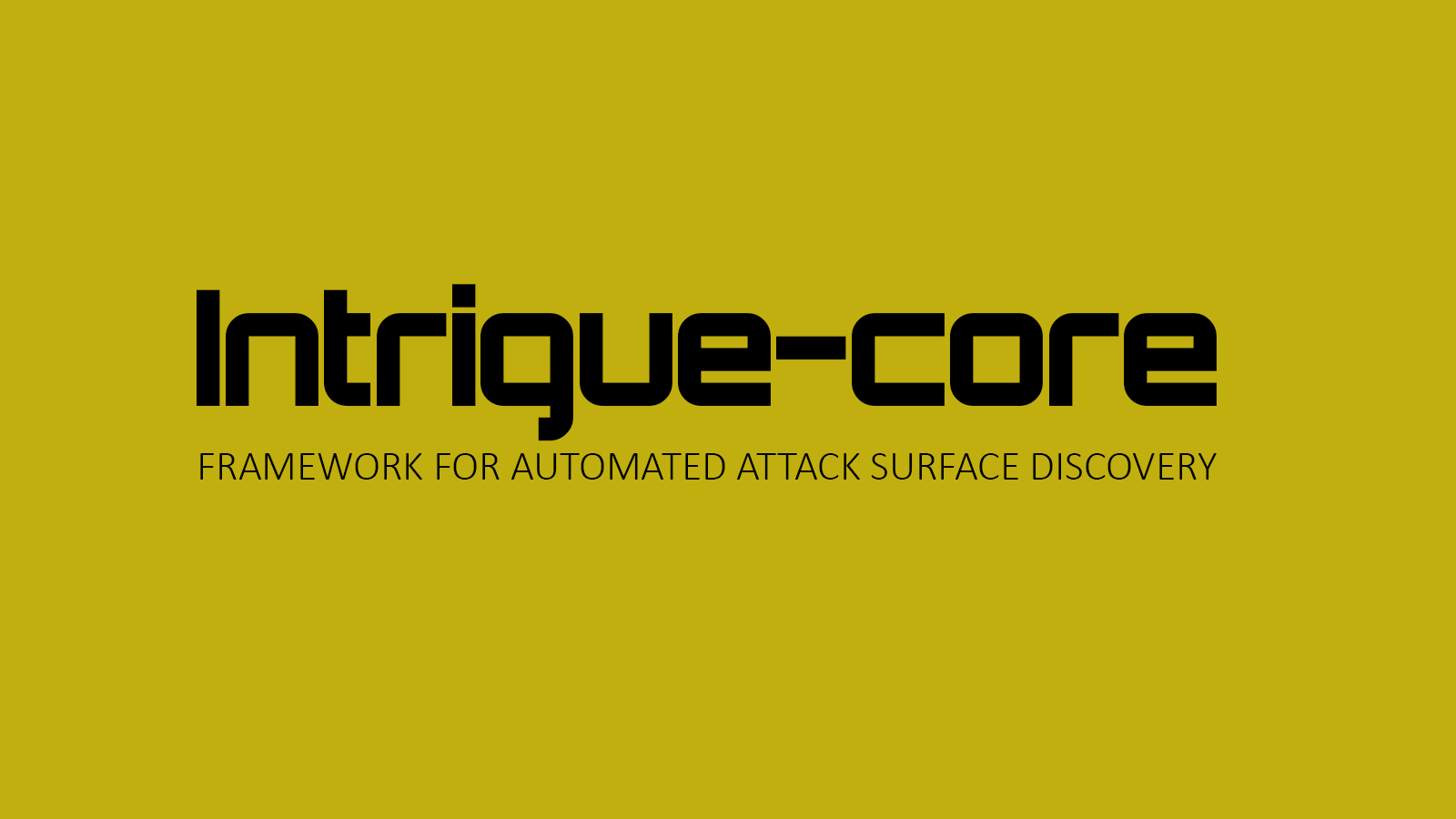 Intrigue-core - Framework for Automated Attack Surface Discovery