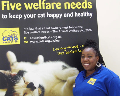 Chizzy Akudolu at Cats Protection