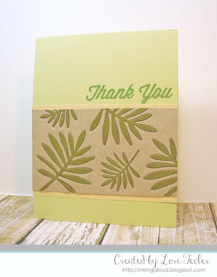 Wild Greenery Thank You card-designed by Lori Tecler/Inking Aloud-stamps and dies from My Favorite Things
