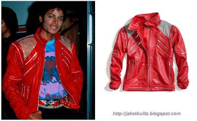 Gambar Jaket Kulit Michael Jackson Merah