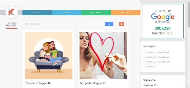 Template para seu blog Moderno