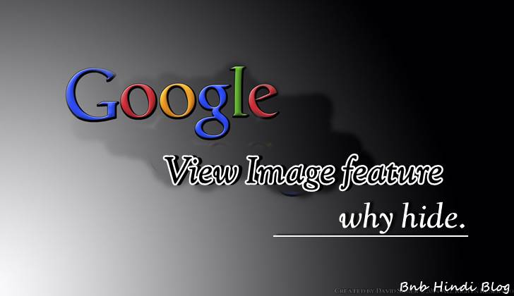 Google view image features why hide