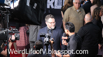 Director Colin Trevorrow being interviewed by Mario Lopez - Jurassic World Premiere