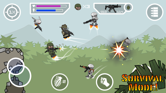 Download Game Doodle Army 2 Mini Militia Mod Pro Pack Unlocked cho Android