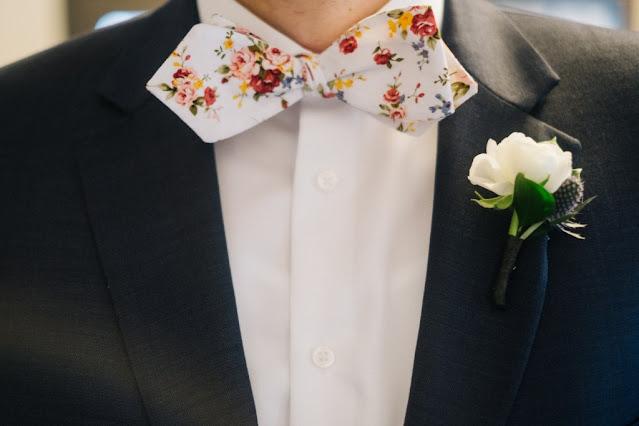 grooms fun floral tie
