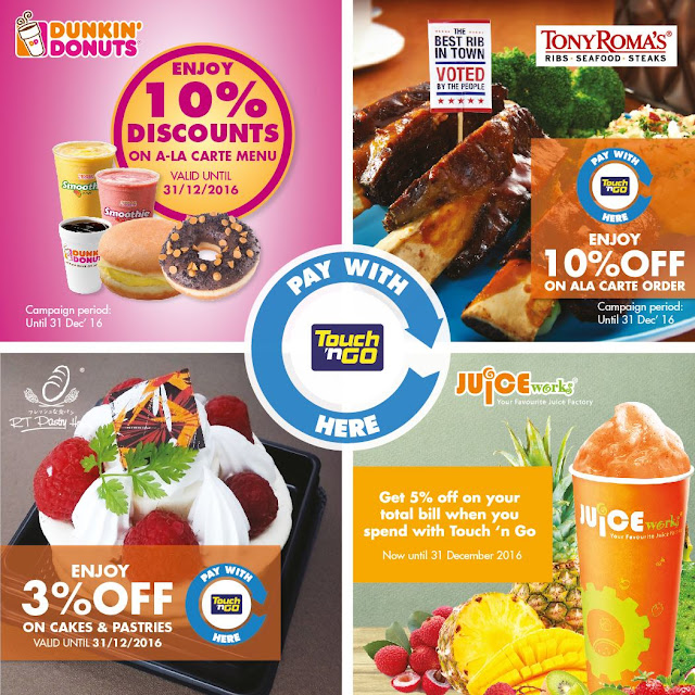 Touch 'n Go Cards Malaysia Juice Works Discount Promo