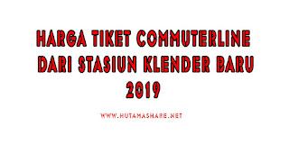 Harga Tiket Commuterline Dari Stasiun Klender Baru Terbaru 2019
