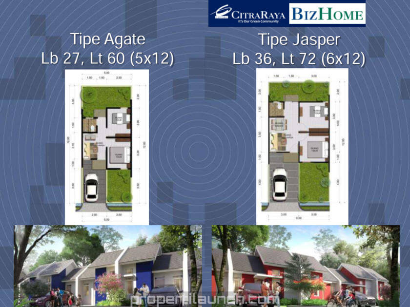 BizHome Citra Raya Unit Type