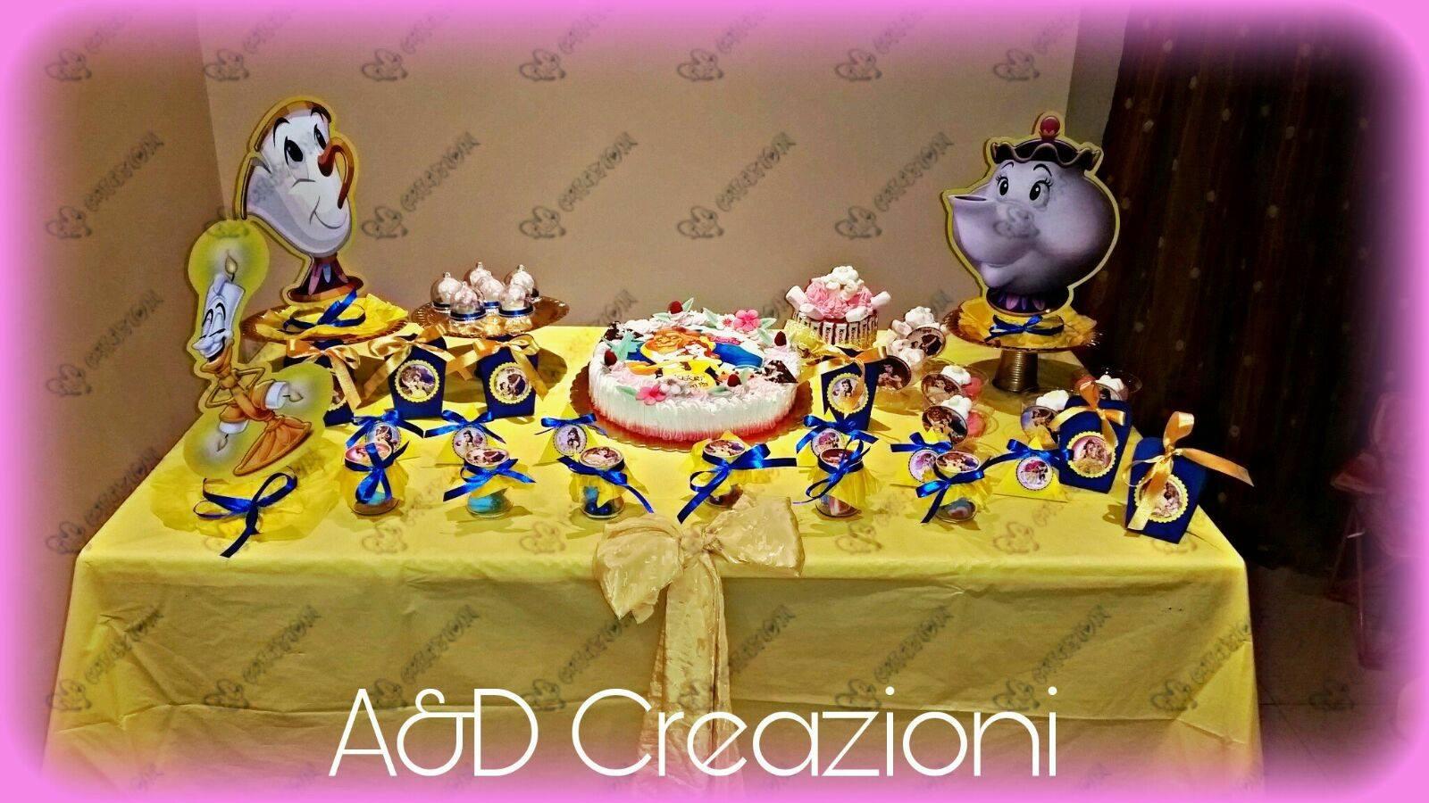 A D Creazioni Handmade Compleanno La Bella E La Bestia