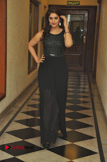 Actress Surabhi Stills in Black Long Dress at turodu Audio Launch  0075.JPG