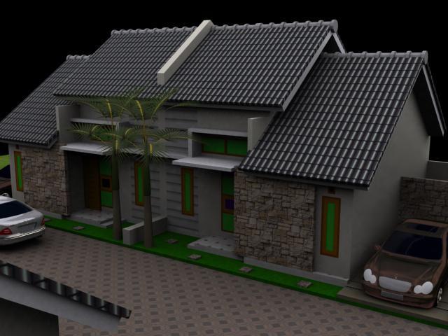 Desain Rumah 1 Lantai Sederhana Minimalis Modern