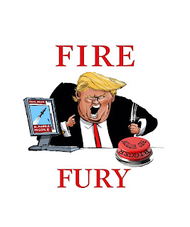 Trump Fire And Fury Red Button Tshirt