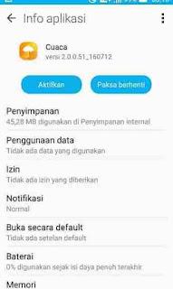 mematikan proses aplikasi bawaan android