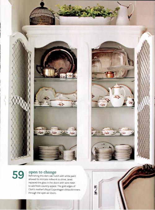 beautiful vintage china display