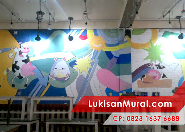 mural cafe indonesia