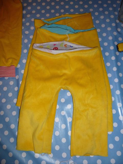 Hose aus putzlappen nahen