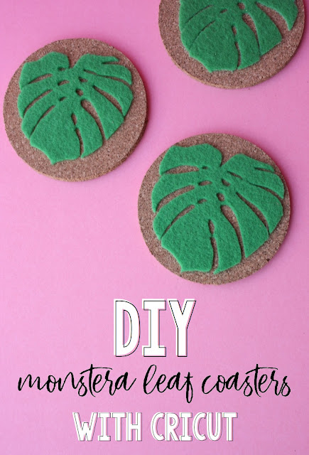 Create these fun Monstera leaf coasters with the all new Cricut Maker!