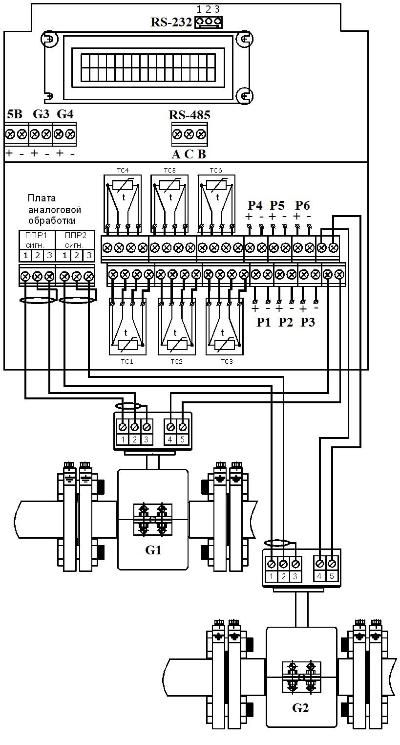 теплосчетчик тэм-106 схема подключения