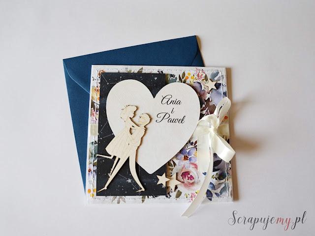 kartka z parą młodą, kartka na ślub, personalizowana kartka ślubna, wedding card