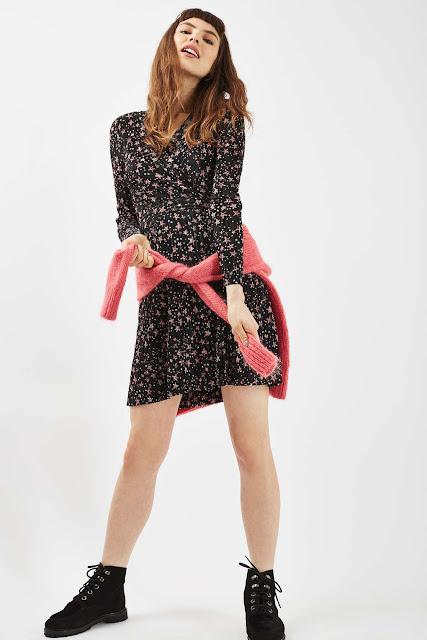star print dress,