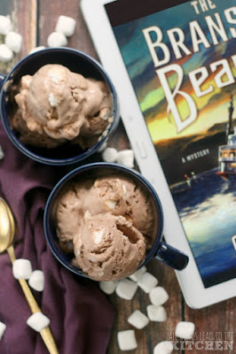 Hot Cocoa Ice Cream inspired by The Branson Beauty, book 1 in the Sheriff Hank Worth Mysteries
