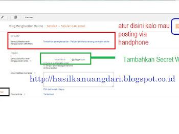Membuat Postingan Blogspot via Email