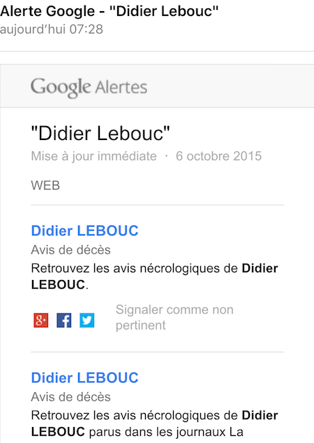 Alerte Google