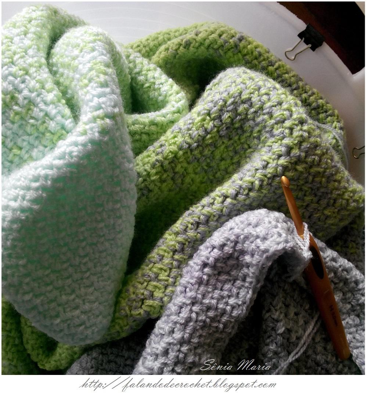 Falando de crochet manta de croche para bebe marcondes neto - Manta de crochet facil ...