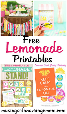 free lemonade printables
