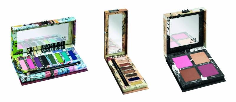 nuevas paletas de la colección de maquillaje Basquiat