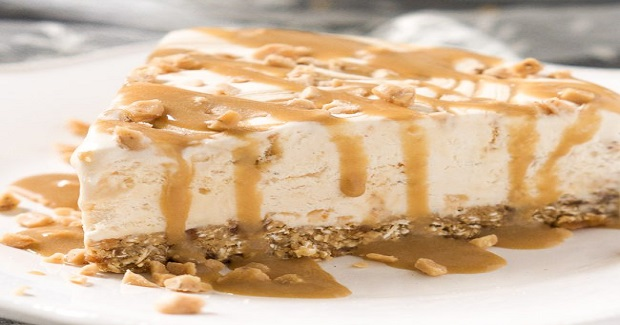 Skinny Toffee Caramel Ice Cream Cake With Oatmeal Cookie Crust Recipe