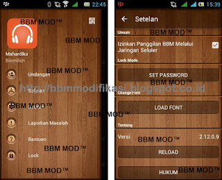 BBM Mod Dark WOOD Versi 3.3.0.16 apk