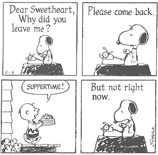 snoopy typewriter charlie brown suppertime love letter